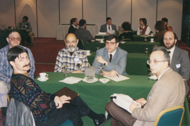 Early 1990s - from left to right - Tim Bergstresser, former PaAAEL President and Board Member, Harry Wilson, Wilson Labs, John Mandel, former PaAAEL Board Member, Rich McCracken, former PaAAEL Board Member, J. Wilson Hershey, Lancaster Labs